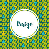 Vector  hipster backgrounds in blues and greens. Hand drawn style Stock Photography
