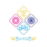 Vector hipster bicycle logo template Stock Photography