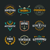 Vector Hipster Emblems Stock Photography