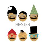 Vector hipster icon. hipster Fashion silhouette Royalty Free Stock Photos