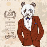 Vector hipster leopard with glasses and suit in vector Stock Photos