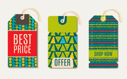 Vector  hipster  Sale Tags Design  trend green flash color. Royalty Free Stock Image
