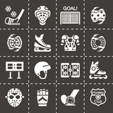 Vector Hockey icon set Stock Image