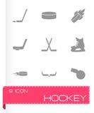 Vector hockey icon set Stock Photos