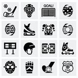 Vector Hockey icon set Stock Photo