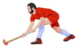 Vector of hockey player. Stock Photography
