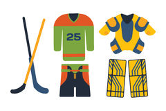 Vector hockey uniform accessory in flat style. Royalty Free Stock Photos