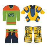 Vector hockey uniform accessory in flat style. Royalty Free Stock Image