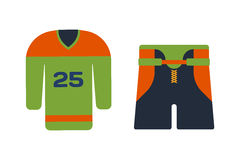 Vector hockey uniform accessory in flat style. Royalty Free Stock Photography