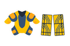 Vector hockey uniform accessory in flat style. Stock Photography