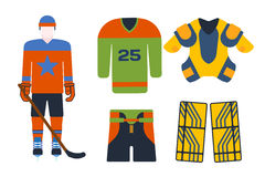 Vector hockey uniform accessory in flat style. Stock Image