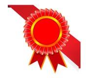Vector hoeklint en kwaliteitscertificaat. Stock Afbeeldingen