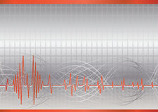 Vector hoge samenvatting - technologieachtergrond Royalty-vrije Stock Afbeeldingen