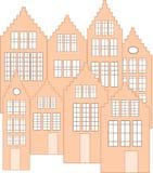 Vector holandés de las fachadas Imagen de archivo libre de regalías