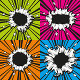 Vector holes set in comic book style Royalty Free Stock Photo