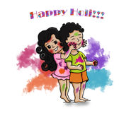 Vector Holi Greetings - The most colorful festival of India Royalty Free Stock Photo