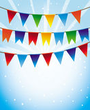 Vector holiday background with bright flags Royalty Free Stock Photography