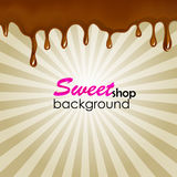 Vector holiday background with chocolate stains Royalty Free Stock Images