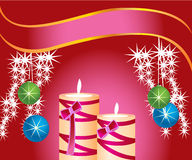 Vector holiday candles Royalty Free Stock Images