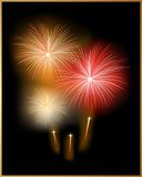 Vector. Holiday Card with Firework. Holiday Post Card with Firework/ mesh used Royalty Free Stock Images