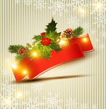 Vector holiday Christmas background Stock Photo