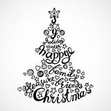 Vector Holiday concept lettering Stock Photography