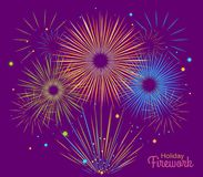 Vector holiday firework. Independence day of America Stock Photography