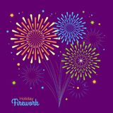 Vector holiday firework. Independence day of America Royalty Free Stock Photos