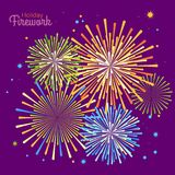 Vector holiday firework. Independence day of America Stock Image