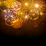Vector holiday firework Stock Image