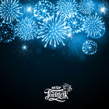 Vector holiday firework. On black background Stock Image