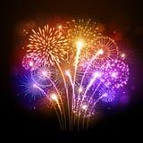 Vector holiday firework Stock Photos