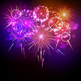 Vector holiday firework Royalty Free Stock Image