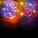 Vector holiday firework Royalty Free Stock Photos