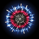Vector holiday firework. Vector festival holiday firework on black background Stock Images