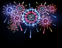 Vector holiday firework Royalty Free Stock Images