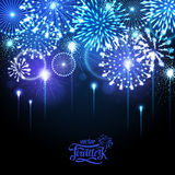 Vector holiday firework Royalty Free Stock Photography