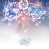 Vector holiday firework Stock Photo