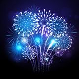 Vector holiday firework Stock Photography