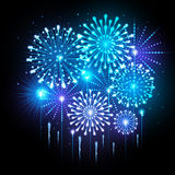 Vector holiday firework Royalty Free Stock Photos