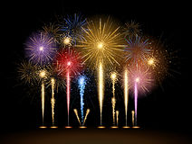 Vector holiday firework. Vector holiday golden festival firework Stock Photography