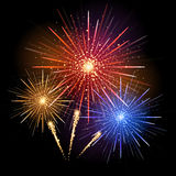 Vector holiday firework. Vector holiday golden festival firework Royalty Free Stock Photo