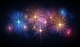 Vector holiday firework. Independence day Royalty Free Stock Photos