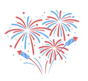 Vector holiday firework. Independence day of America. Holiday firework. Independence day of America Royalty Free Stock Photo