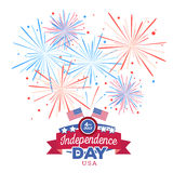 Vector holiday firework. Independence day of America. Holiday firework. Independence day of America Royalty Free Stock Image