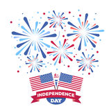 Vector holiday firework. Independence day of America. Holiday firework. Independence day of America Royalty Free Stock Photography