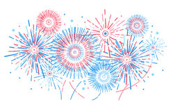 Vector holiday firework. Independence day of America. Vector holiday firework. Independence day Royalty Free Stock Photos