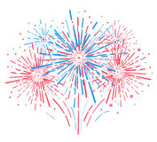 Vector holiday firework. Independence day of America. Vector holiday firework. Independence day Stock Image