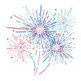 Vector holiday firework. Independence day of America. Vector holiday firework. Independence day Royalty Free Stock Photo
