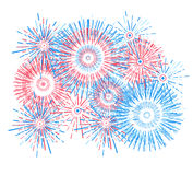 Vector holiday firework. Independence day of America. Vector holiday firework. Independence day Stock Photo